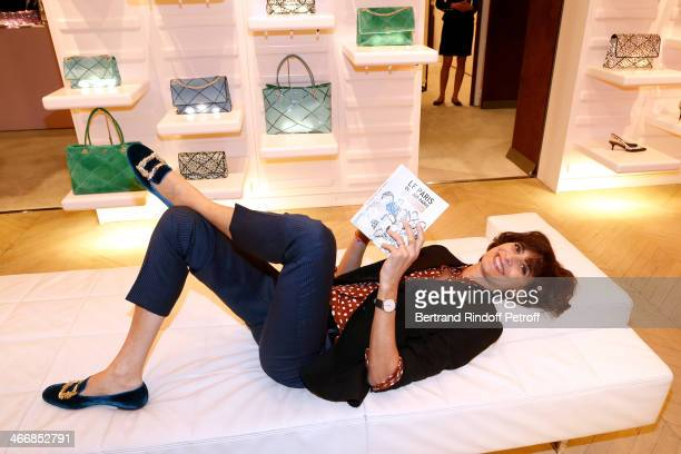Fashion Designer Ines de la Fressange attends the 'Le Paris du Tout Paris' Book written by Alexandra Senes Presentation at Maison Roger Vivier on...