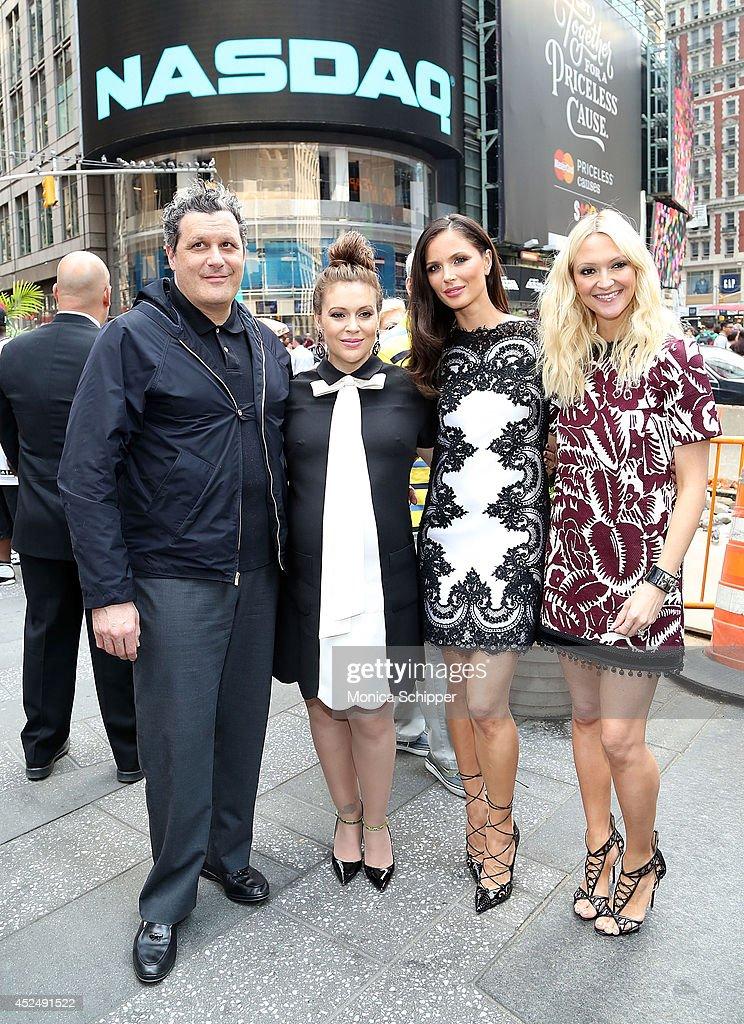 Fashion Designer Isaac Mizrahi Actress Alyssa Milano