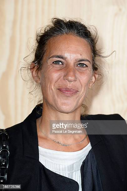 Fashion designer Isabel Marant attends the 'Isabel Marant For HM' Photocall at Tennis Club De Paris on October 24 2013 in Paris France