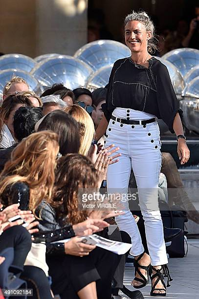 Fashion designer Isabel Marant walks the runway during the Isabel Marant Ready to Wear show as part of the Paris Fashion Week Womenswear...