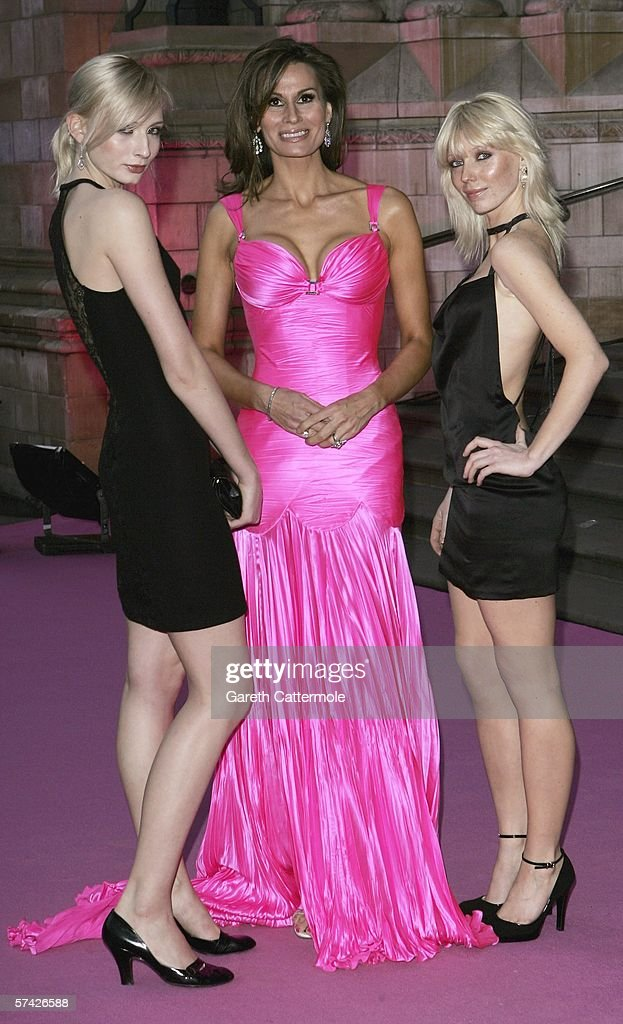 Fashion designer Isabell Kristensen and models attend The Blush Ball, raising funds for the construction of a third Breast Cancer Haven in North England, at the Natural History Museum on April 25, 2006 in London, England.
