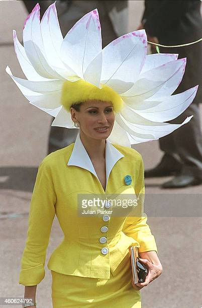 Fashion Designer Isabell Kristensen attends The Royal Ascot race meeting on June 18 1996 in Ascot United Kingdom