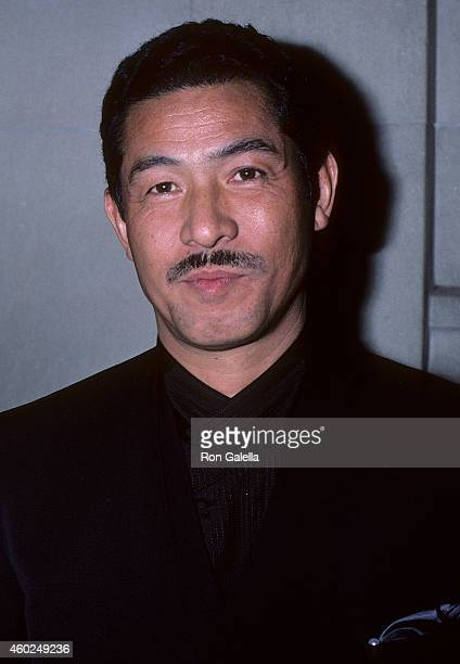 Fashion designer Issey Miyake attends the Metropolitan Museum of Art's Costume Institute Gala Exhibition of 'Dance' on December 8 1986 at the...