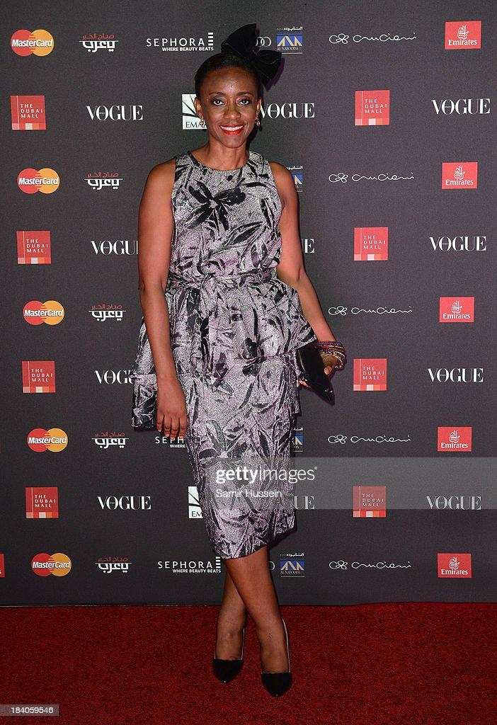 Fashion designer Ituen Basi attends the gala dinner at the Armani Pavilion during Vogue Fashion Dubai Experience on October 10, 2013 in Dubai, United Arab Emirates.