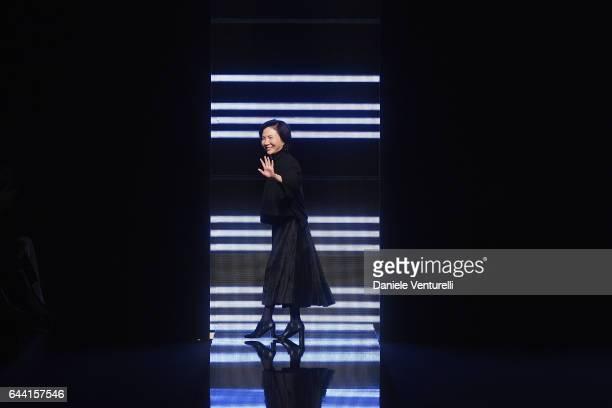 Fashion Designer Izumi Ogino walks the runway at the Anteprima show during Milan Fashion Week Fall/Winter 2017/18 on February 23 2017 in Milan Italy