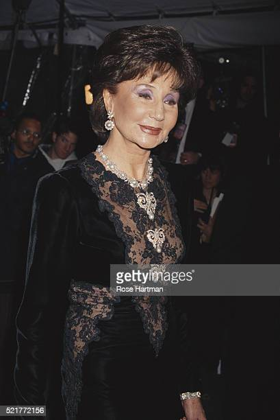 Fashion designer Jacqueline de Ribes attends the Costume Institute gala at the Metropolitan Museum of Art New York New York 1996