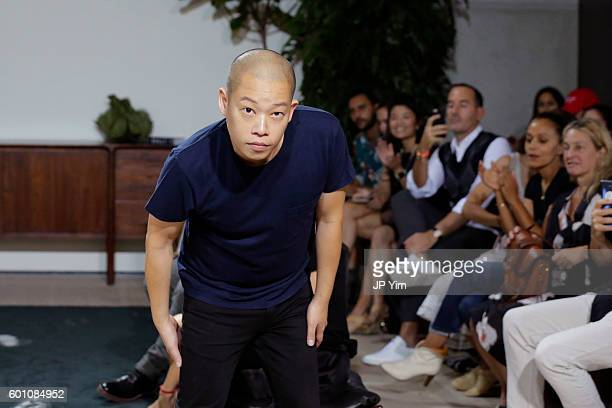Fashion designer Jason Wu at the Jason Wu fashon show during New York Fashion Week at Spring Studios on September 9 2016 in New York City