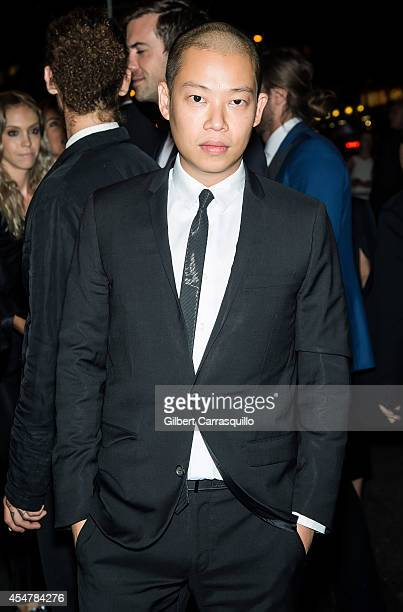 Fashion designer Jason Wu is seen arriving to the Harper's Bazaar Celebrates ICONS by Carine Rotifeld at The Plaza Hotel on September 5 2014 in New...