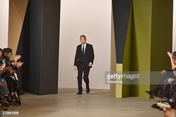 Fashion designer Jason Wu walks the runway at the Boss Women Autumn Winter 2016 fashion show during New York Fashion Week on February 17 2016 in New...