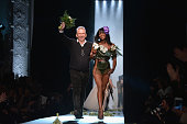 Fashion designer Jean Paul Gaultier and model Naomi Campbell walk the runway during the Jean Paul Gaultier show as part of Paris Fashion Week Haute...