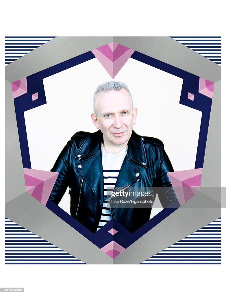 Fashion designer Jean Paul Gaultier is photographed for Madame Figaro on February 27, 2015 in Paris, France. PUBLISHED IMAGE.