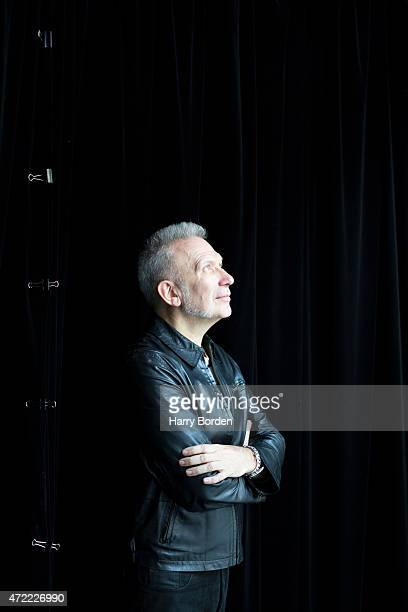 Fashion designer Jean Paul Gaultier is photographed for the Sunday Times magazine on March 12 2014 in Paris France