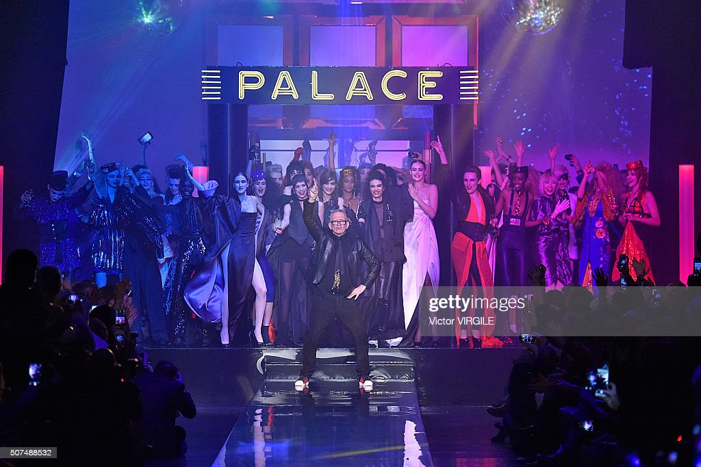 Fashion designer Jean Paul Gaultier walks the runway during the Jean Paul Gaultier Spring Summer 2016 show as part of Paris Fashion Week on January...