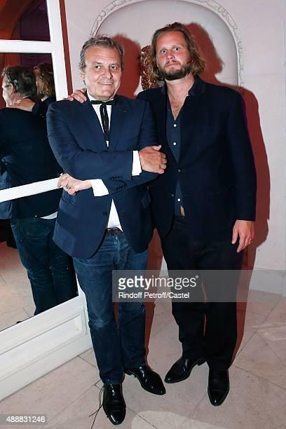 Fashion Designer JeanCharles de Castelbajac and his son Guilhem de Castelbajac attend the Kenzo Takada's 50 Years of Life in Paris Celebration at...