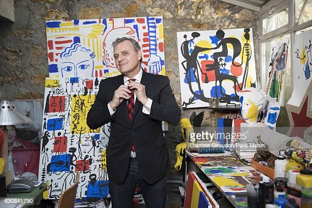 Fashion designer JeanCharles de Castelbajac is photographed for Paris Match on December 9 2016 in Paris France