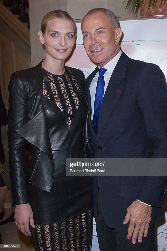 Fashion designer Jean-Claude Jitrois and Sarah Marshall, granddaughter of actress Michele Morgan, attend the Gala de l'Espoir charity event against cancer at Theatre du Chatelet on November 12, 2012 in Paris, France.