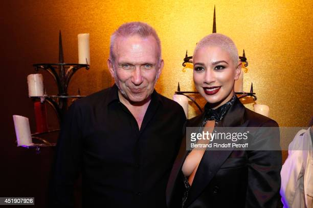 Fashion designer JeanPaul Gaultier and singer Diese pose after the Jean Paul Gaultier show as part of Paris Fashion Week Haute Couture Fall/Winter...