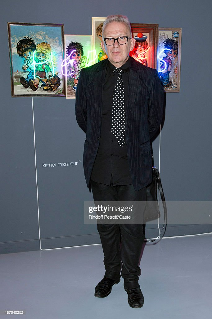 Fashion Designer Jean-Paul Gaultier attends the Auction Dinner to Benefit 'Institiut Imagine' on September 10, 2015 in Paris, France.