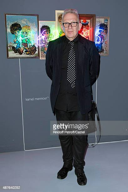 Fashion Designer JeanPaul Gaultier attends the Auction Dinner to Benefit 'Institiut Imagine' on September 10 2015 in Paris France