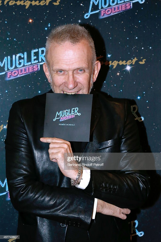 Fashion Designer Jean-Paul Gaultier attends the 'Mugler Follies' Paris new variety show premiere on December 18, 2013, held at 'Le Comedia' Theater in Paris, France.