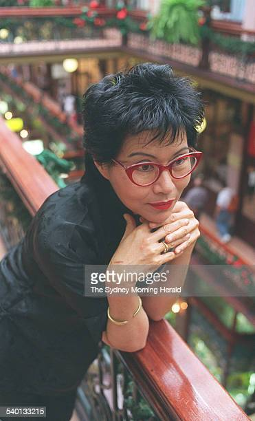 Fashion designer Jenny Kee at her shop in the Strand Arcade Sydney which will close after 21 years of trade 29 December 1994 SMH Picture by JENNIFER...