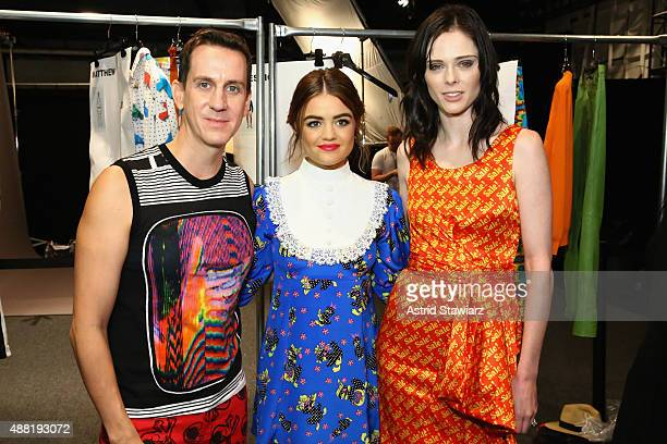 Fashion Designer Jeremy Scott Actress Lucy Hale and Fashion Model Coco Rocha with Kagome Greens At Jeremy Scott at Skylight at Moynihan Station on...