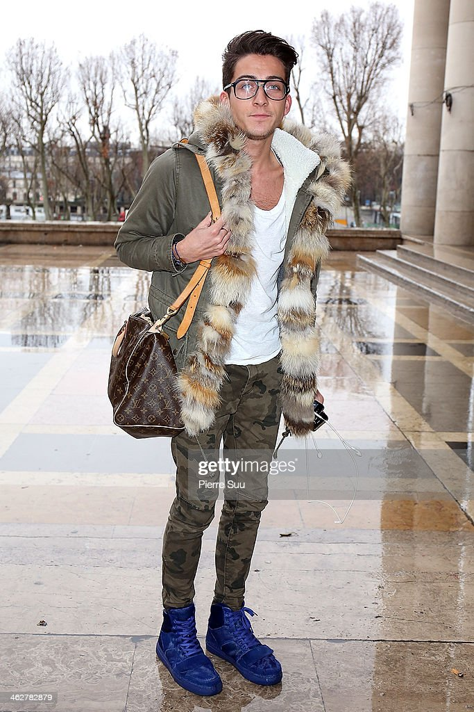 Fashion Designer Jimmy wears Creative recreation Shoes,Zara Pants,Zara T Shirt,Golden Sliver Jacket on January 15, 2014 in Paris, France.