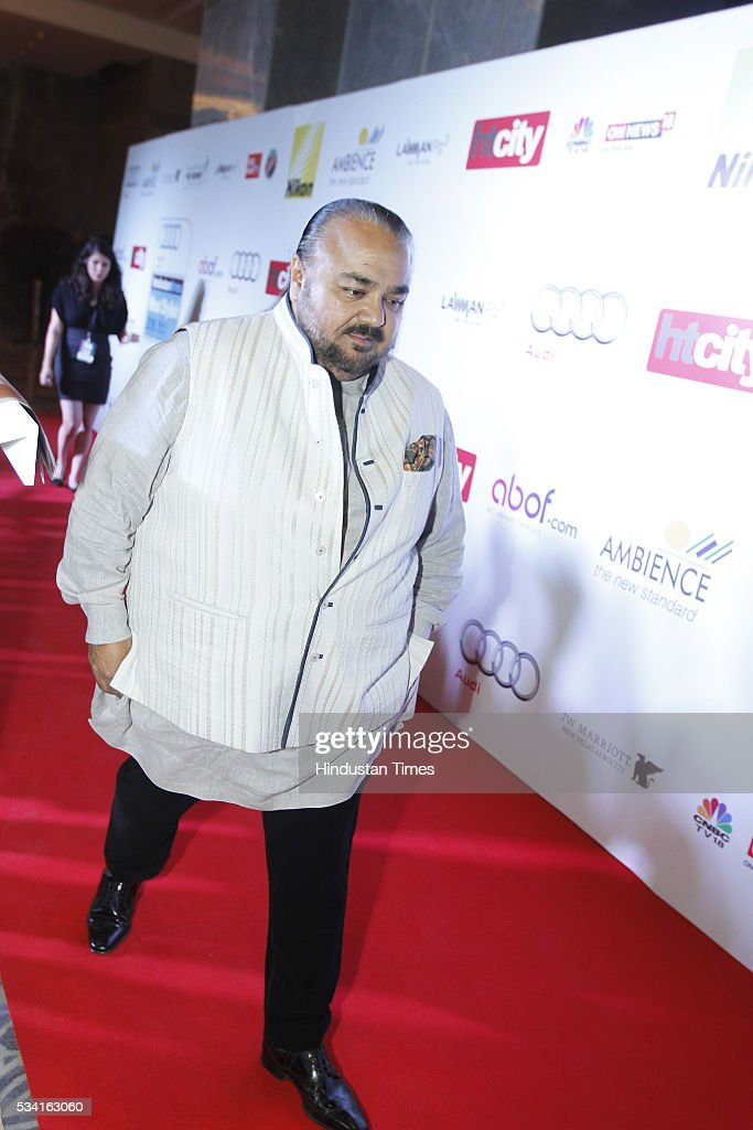 Fashion Designer JJ Valaya arriving at red carpet for Hindustan Times Most Stylish Awards 2016 at hotel JW Marriot, Aerocity on May 24, 2016 in New Delhi, India.