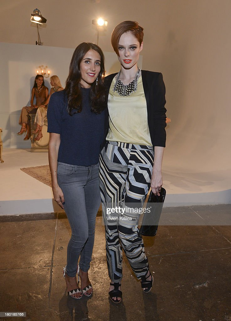 Fashion designer Jodie Snyder and model Coco Rocha attend the Dannijo presentation during MercedesBenz Fashion Week Spring 2014 at Industria Studios...
