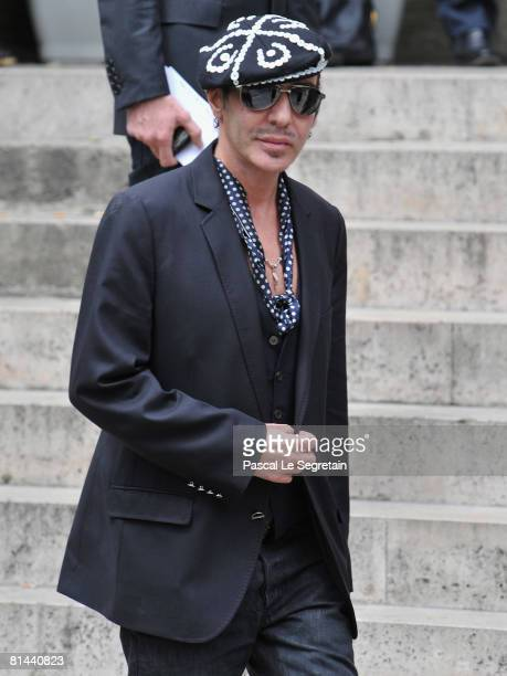 Fashion Designer John Galiano attends Yves Saint Laurent's Funeral Service on June 5 2008 at Eglise SaintRoch in Paris France The designer Yves Saint...