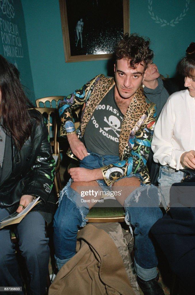 Fashion designer John Galliano during London Fashion Week, March 1992.