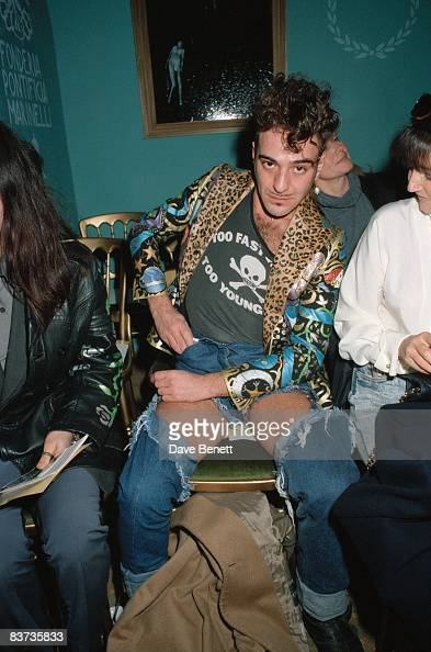 Fashion designer John Galliano during London Fashion Week March 1992