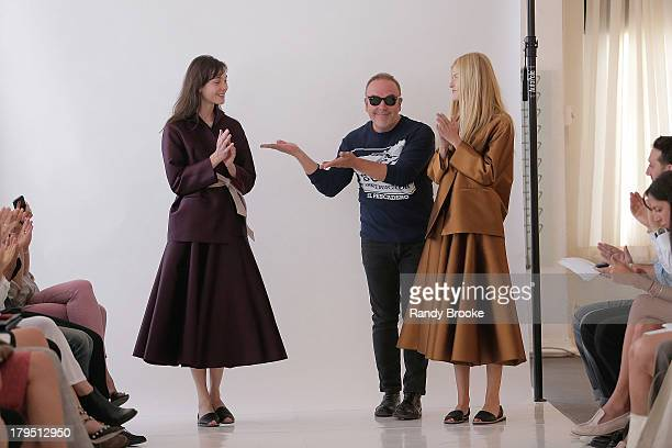 Fashion designer John Patrick seen at the Organic By John Patrick show during Spring 2014 MercedesBenz Fashion Week at on September 4 2013 in New...