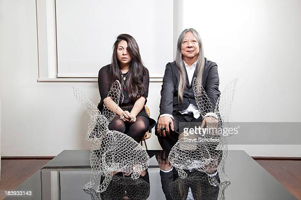 Fashion designer John Rocha with his daughter Simone is photographed for the Sunday Times magazine on November 18 2011 in London England