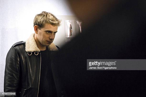Fashion designer Jonathan Anderson is photographed for Madame Figaro backstage at Loewe's Autumn/Winter 2015 2016 prêtàporter show on March 6 2015 in...