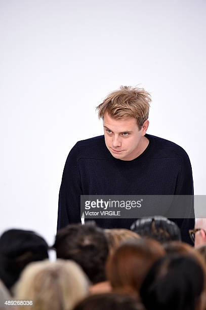 Fashion designer Jonathan Anderson walks the runway at the JWAnderson Ready to Wear show during London Fashion Week Spring/Summer 2016 on September...