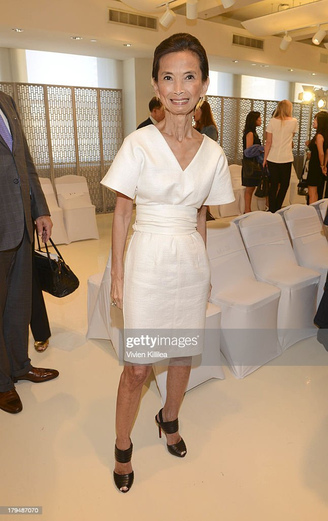 Fashion designer <a gi-track='captionPersonalityLinkClicked' href=/galleries/search?phrase=Josie+Natori&family=editorial&specificpeople=1361603 ng-click='$event.stopPropagation()'>Josie Natori</a> attends the <a gi-track='captionPersonalityLinkClicked' href=/galleries/search?phrase=Josie+Natori&family=editorial&specificpeople=1361603 ng-click='$event.stopPropagation()'>Josie Natori</a> show during Mercedes-Benz Fashion Week Spring 2014 on September 4, 2013 in New York City.
