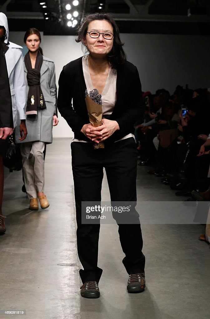 Fashion designer June Sohn walks the runway at the Jungwon show during Nolcha Fashion Week New York Fall/Winter 2014 at Pier 59 on February 12, 2014 in New York City.