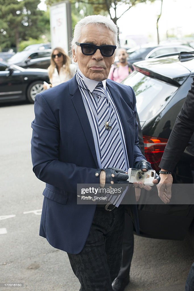 Fashion Designer Karl Laegerfeld on day 4 of Paris Collections: Men on June 29, 2013 in Paris, France.