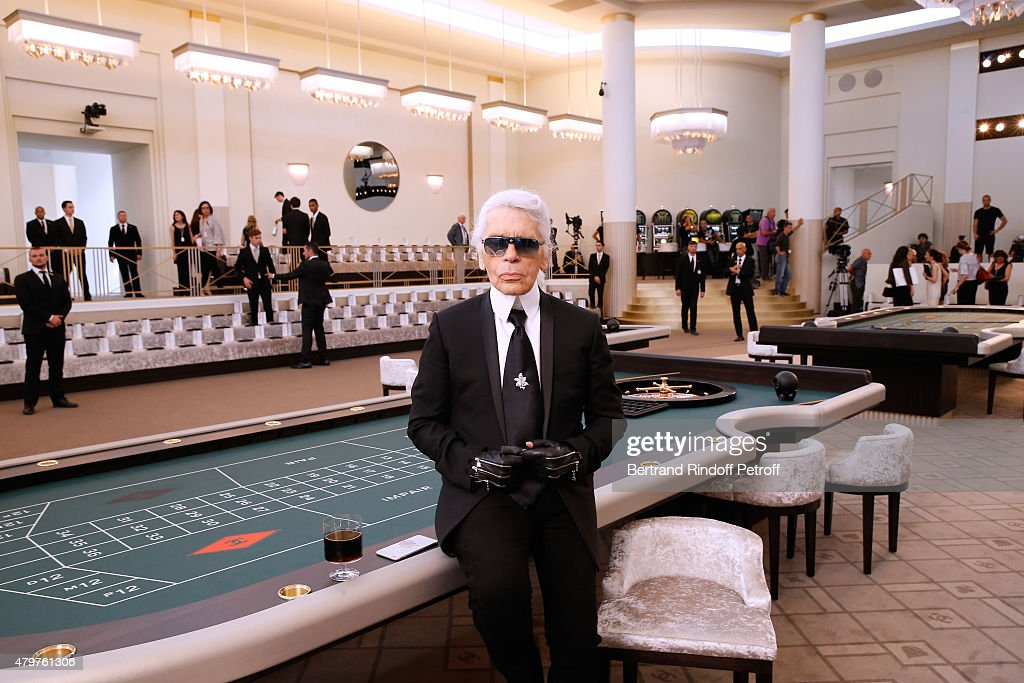 Fashion Designer <a gi-track='captionPersonalityLinkClicked' href=/galleries/search?phrase=Karl+Lagerfeld+-+Fashion+Designer&family=editorial&specificpeople=4330565 ng-click='$event.stopPropagation()'>Karl Lagerfeld</a> attends the Chanel show as part of Paris Fashion Week Haute Couture Fall/Winter 2015/2016. Held at Grand Palais on July 7, 2015 in Paris, France.