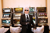 Fashion Designer Karl Lagerfeld attends the Chanel show as part of Paris Fashion Week Haute Couture Fall/Winter 2015/2016 Held at Grand Palais on...