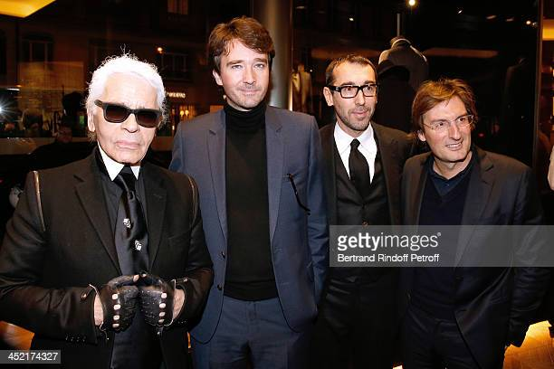 Fashion Designer Karl Lagerfeld General manager of Berluti Antoine Arnault Fashion designer of Berluti Alessandro Sartori and General Director of...