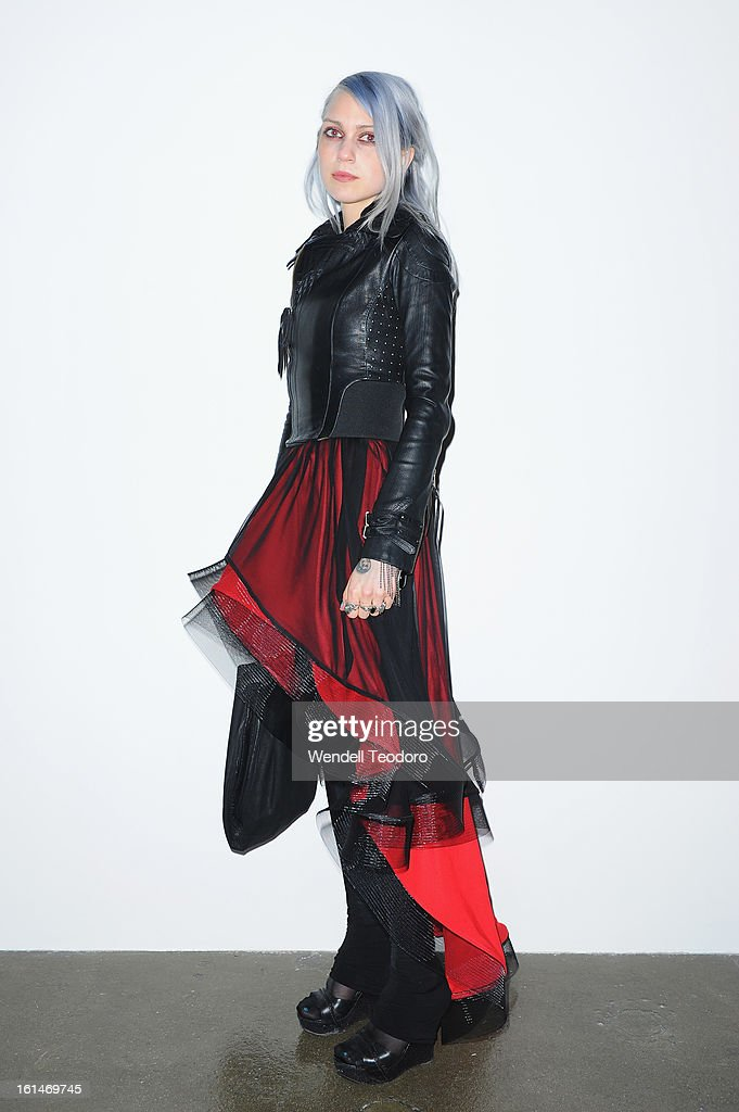 Fashion Designer Katie Gallagher attends the Carlos Campos presentation during Fall 2013 MADE Fashion Week at Milk Studios on February 10, 2013 in New York City.