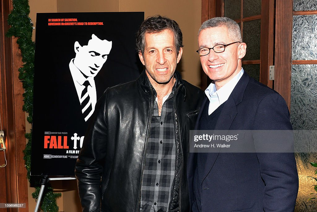 Fashion designer Kenneth Cole and Gov. Jim McGreevey attend the 'Fall To Grace' and 'The Battle Of AMFAR' Brunch hosted by HBO on January 18, 2013 in Park City, Utah.