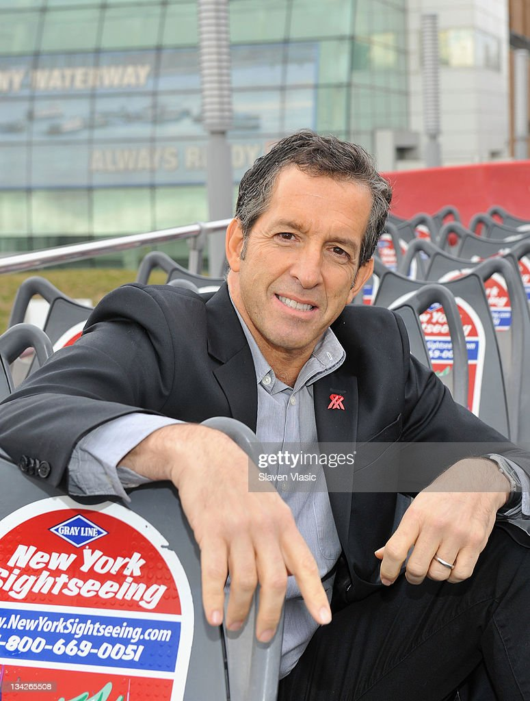 Fashion designer Kenneth Cole is honored by Gray Line New York's 'Ride Of Fame' at Pier 78 on November 29, 2011 in New York City.