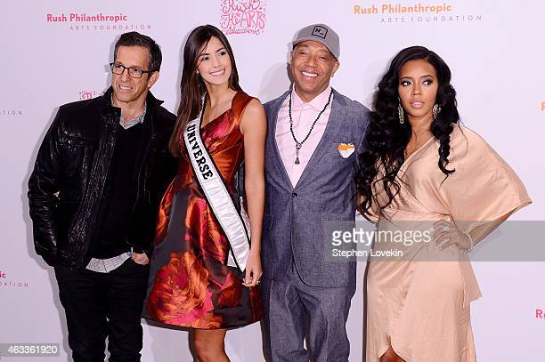 Fashion designer Kenneth Cole Miss Universe Paulina Vega Rush Philanthropic Arts Foundation cofounder Russell Simmons and fashion designer Angela...
