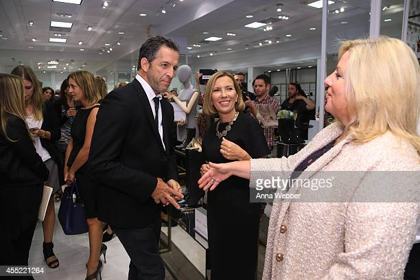Fashion Designer Kenneth Cole President of Lord Taylor Liz Rodbell and Executive Vice President of Lord Taylor Mary Anne Morin attend New York...