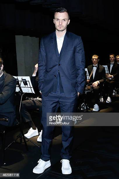 Fashion designer Kris Van Assche attends the Dior Homme Menswear Fall/Winter 20152016 Show as part of Paris Fashion Week on January 24 2015 in Paris...