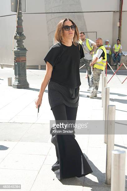 Fashion designer Kym Ellery wears all Ellery on day 2 of Paris Fashion Week Haute Couture Autumn/Winter 2015 on July 6 2015 in Paris France