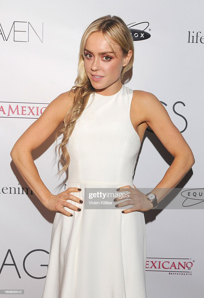 Fashion designer Kymberley attends TAGS Grand Opening Party on February 6, 2013 in West Hollywood, California.